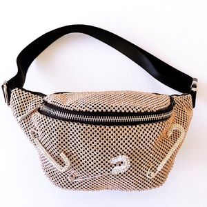 Safety Pin Belt Bag (Rose Gold)